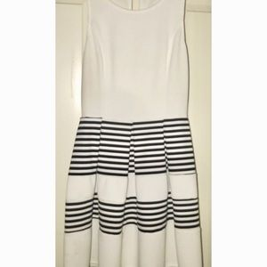 Blue Rain black and white striped dress✨